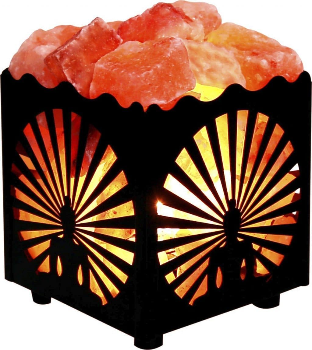 Ionic Salt Lamps Do They Work : Square Metal Basket Salt Lamps Negative Ionizers