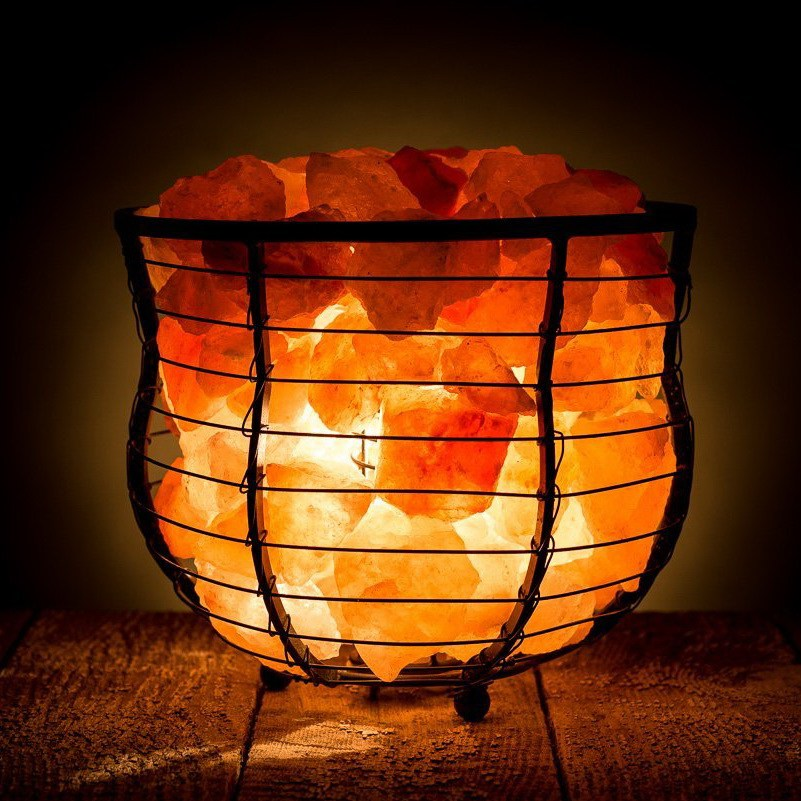Basket Salt lamps