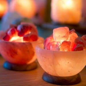 Beautiful pink salt crystal bowls