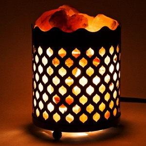 Pillar salt lamp