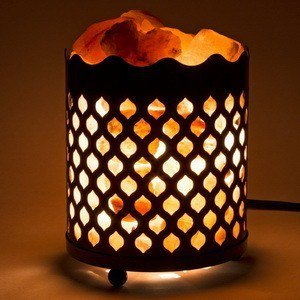 Small salt night shade lamp